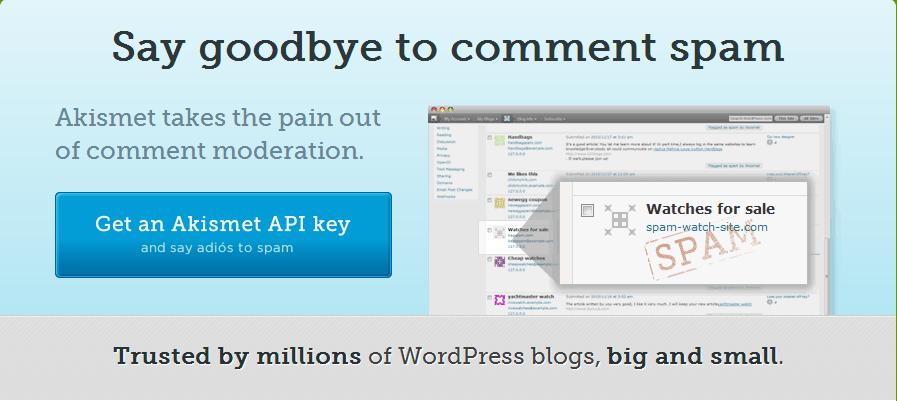 Akismet 防垃圾评论 WordPress 插件